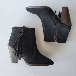 Coach Westyn Fringe Boots Black Suede Booties 5